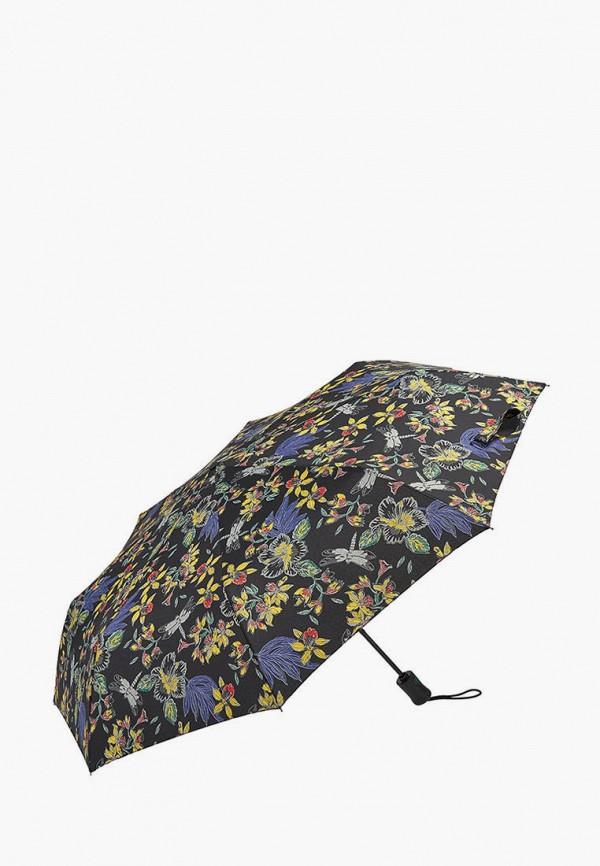 женский складные зонт fulton, черный