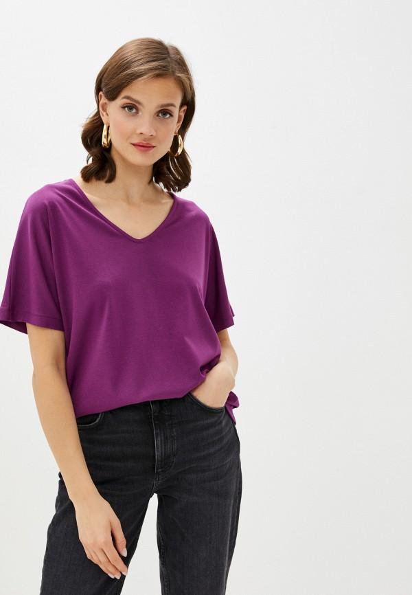 женская блузка с коротким рукавом ruxara, фиолетовая