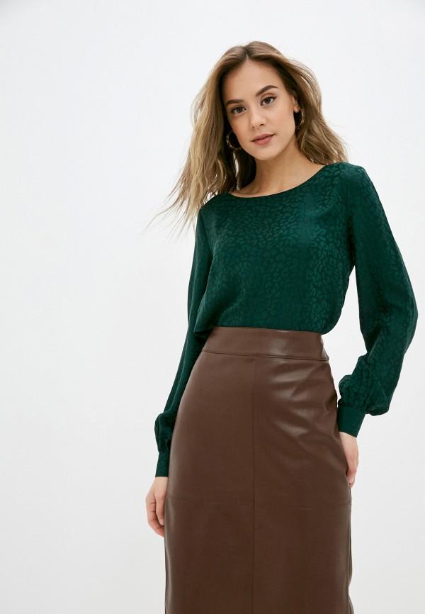 женская блузка с длинным рукавом calista, зеленая