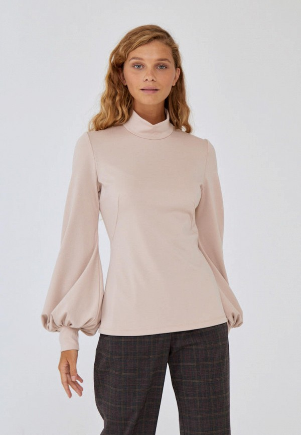 женская блузка с длинным рукавом alina assi, бежевая