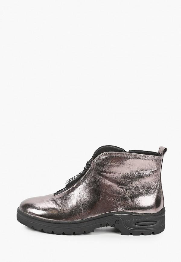 женские высокие ботинки ascalini, серебряные