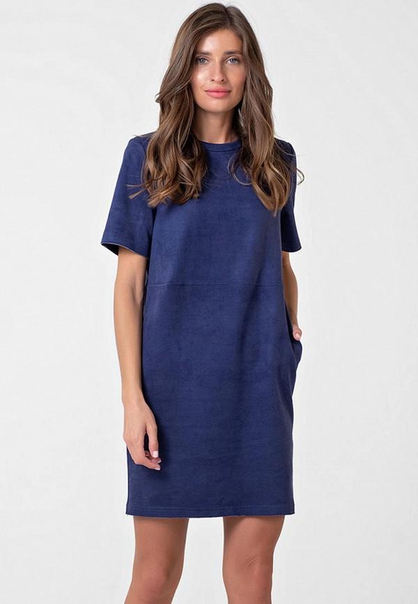 женское кожаные платье fly, синее