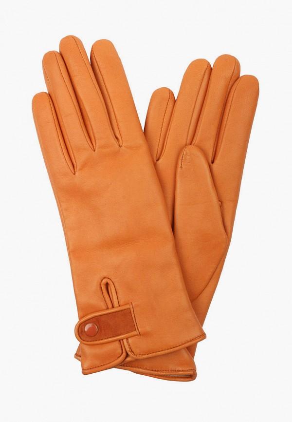 женские кожаные перчатки edmins, оранжевые
