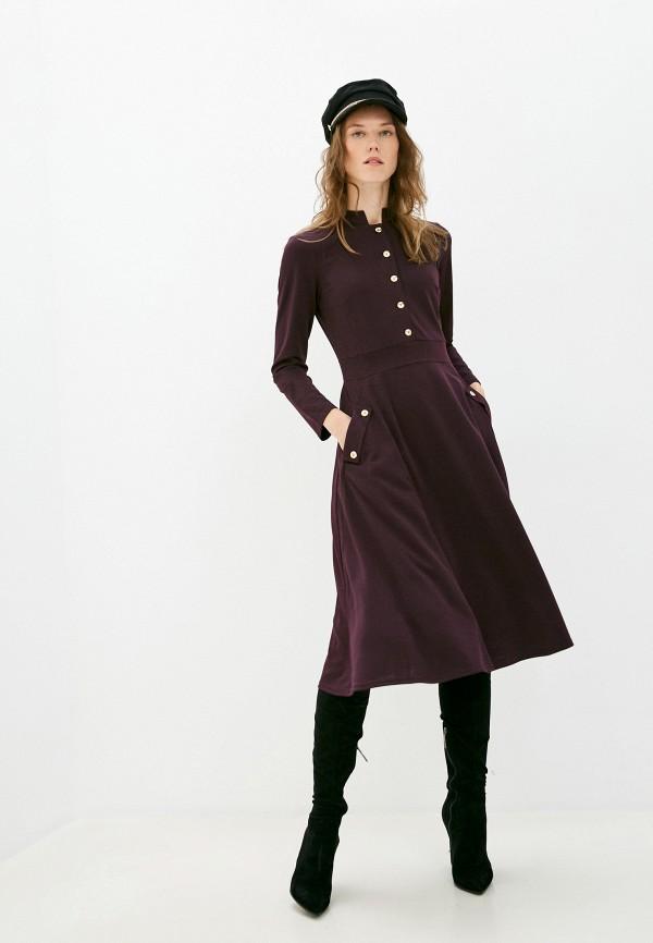 женское повседневные платье viserdi, фиолетовое