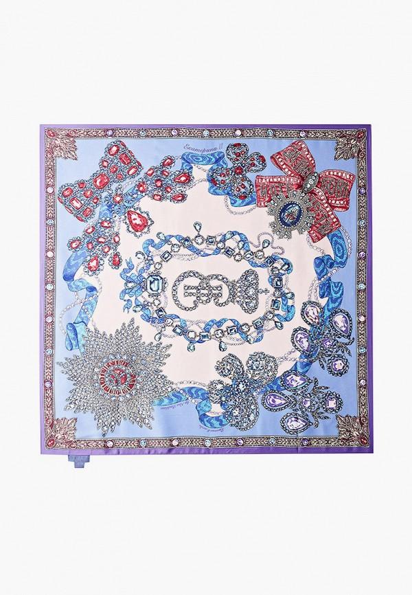 женский платок русские в моде, фиолетовый