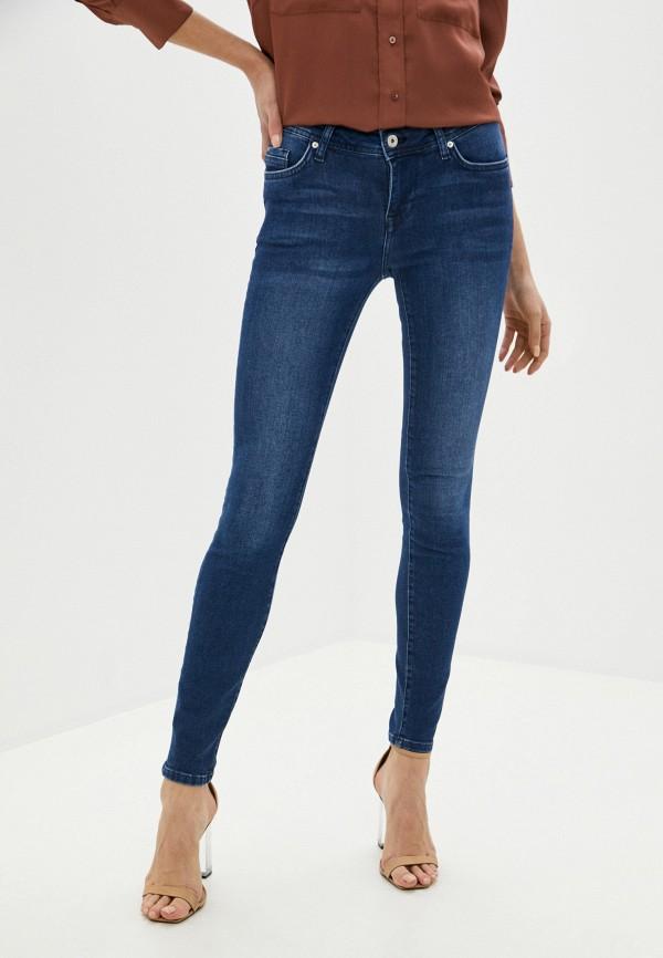 женские джинсы скинни mustang, синие