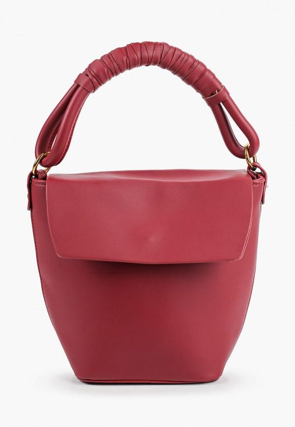 женская сумка с ручками ruxara, бордовая