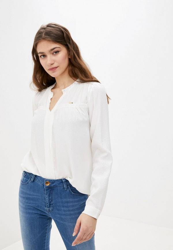 женская блузка с длинным рукавом u.s. polo assn, белая