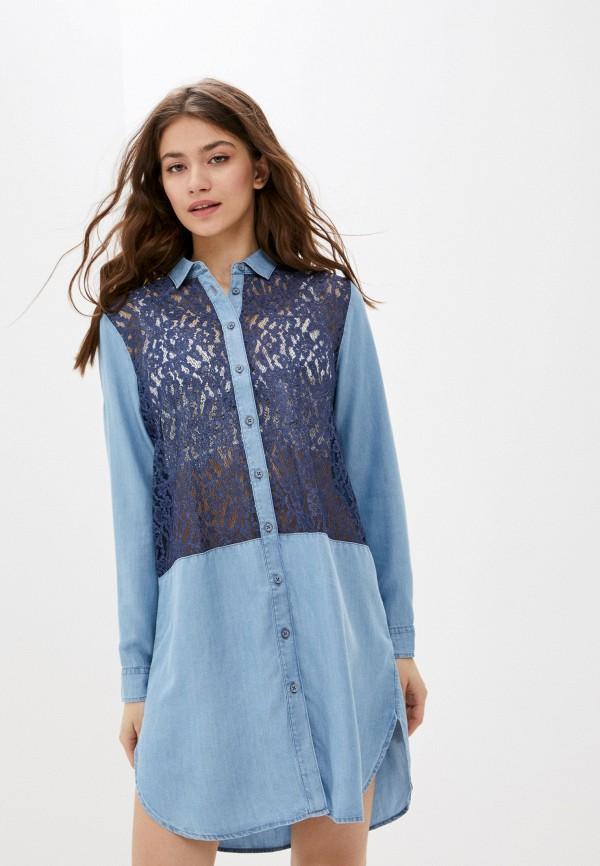 женское платье-рубашки u.s. polo assn, голубое