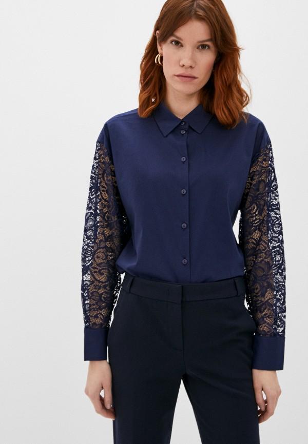 женская кружевные блузка vittoria vicci, синяя