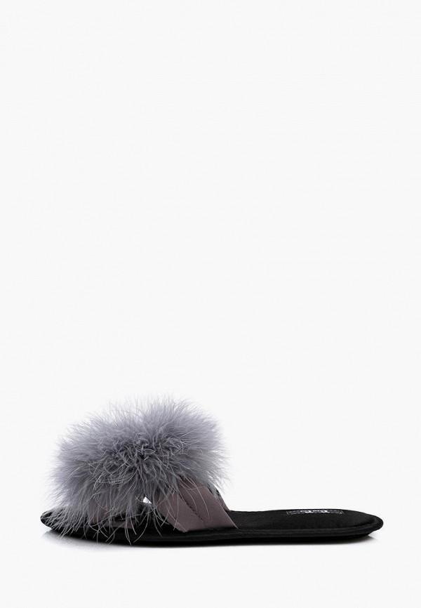 женские тапочки petit pas, серые