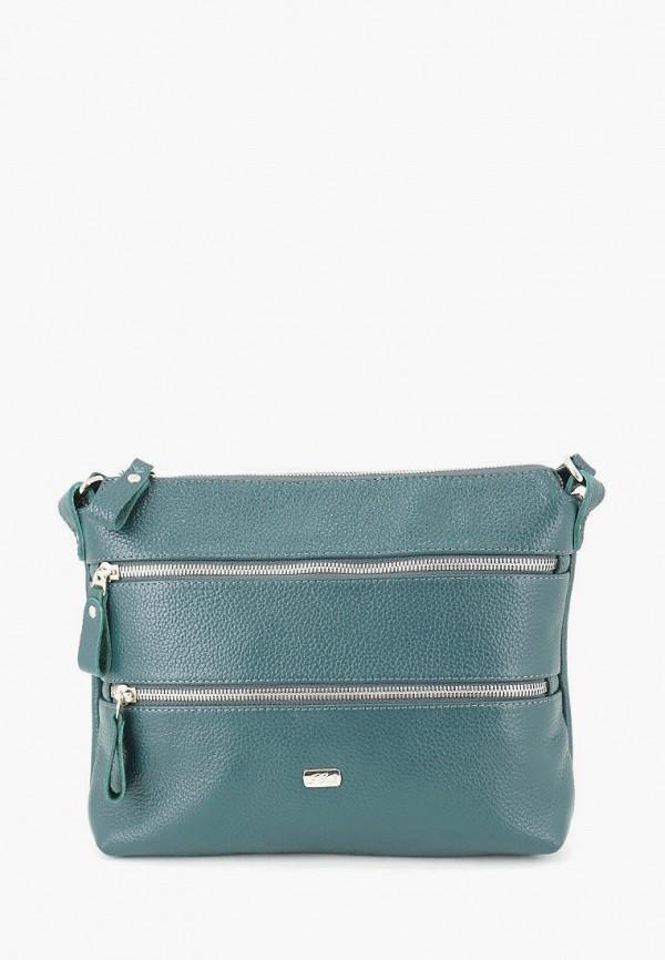 женская сумка через плечо solo, бирюзовая