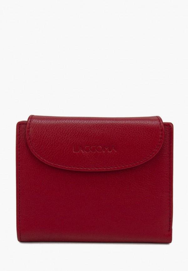 женский кошелёк laccoma, красный