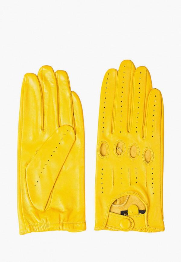 женские кожаные перчатки shpil design, желтые