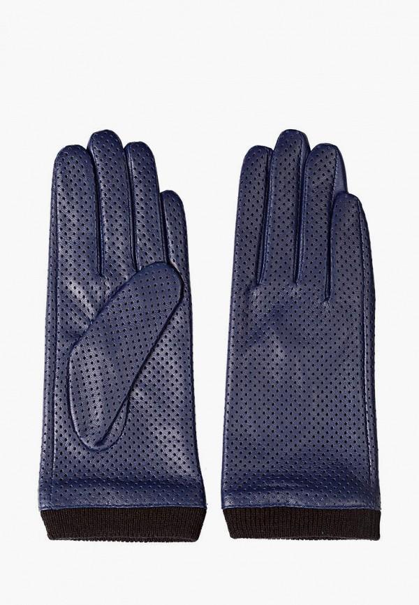женские кожаные перчатки shpil design, синие