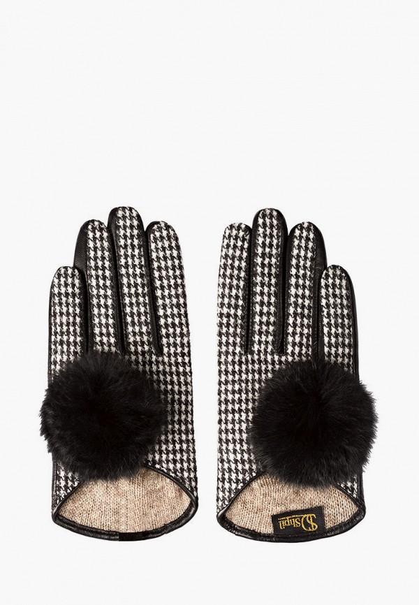женские кожаные перчатки shpil design, разноцветные