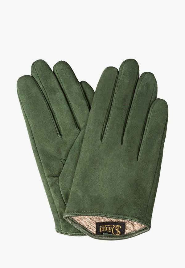 женские кожаные перчатки shpil design, зеленые