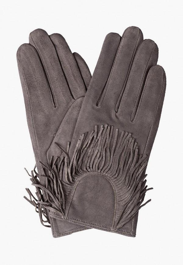женские кожаные перчатки shpil design, серые