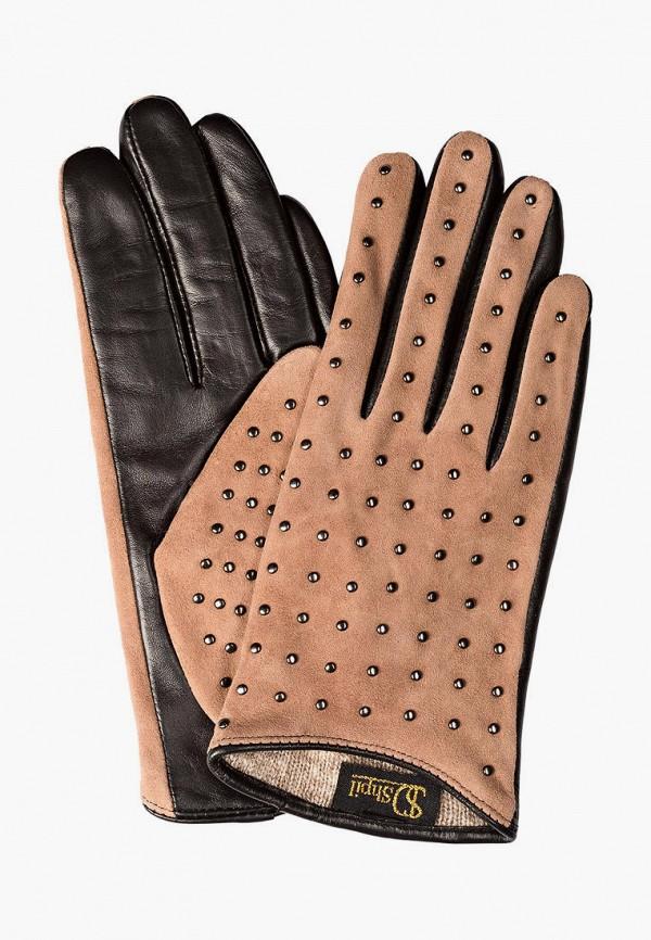 женские кожаные перчатки shpil design, бежевые