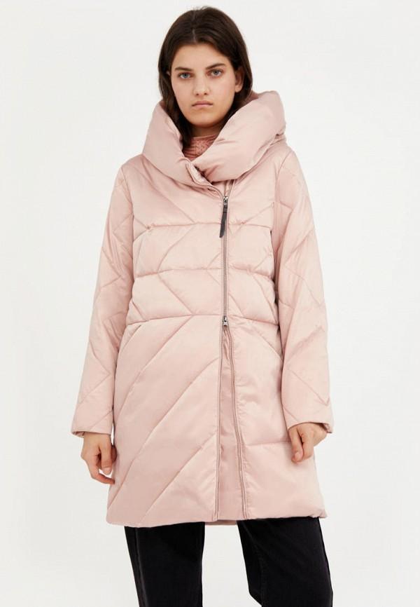 женский пуховик finn flare, розовый