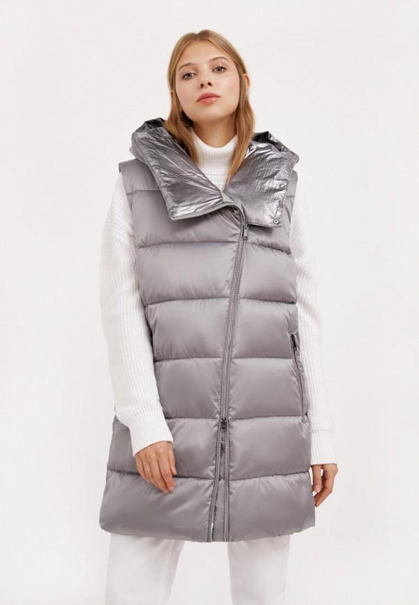 женский утепленные жилет finn flare, серый