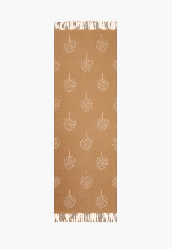 женский палантин mellizos, коричневый
