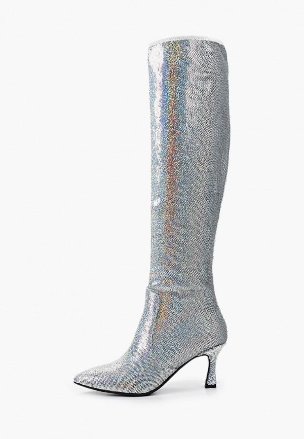 женские ботфорты ridlstep, серебряные