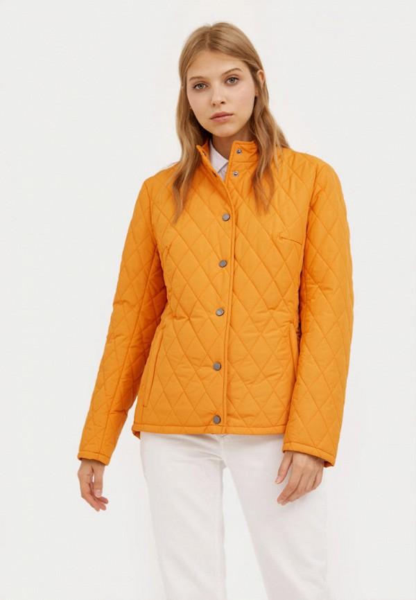 женская утепленные куртка finn flare, оранжевая
