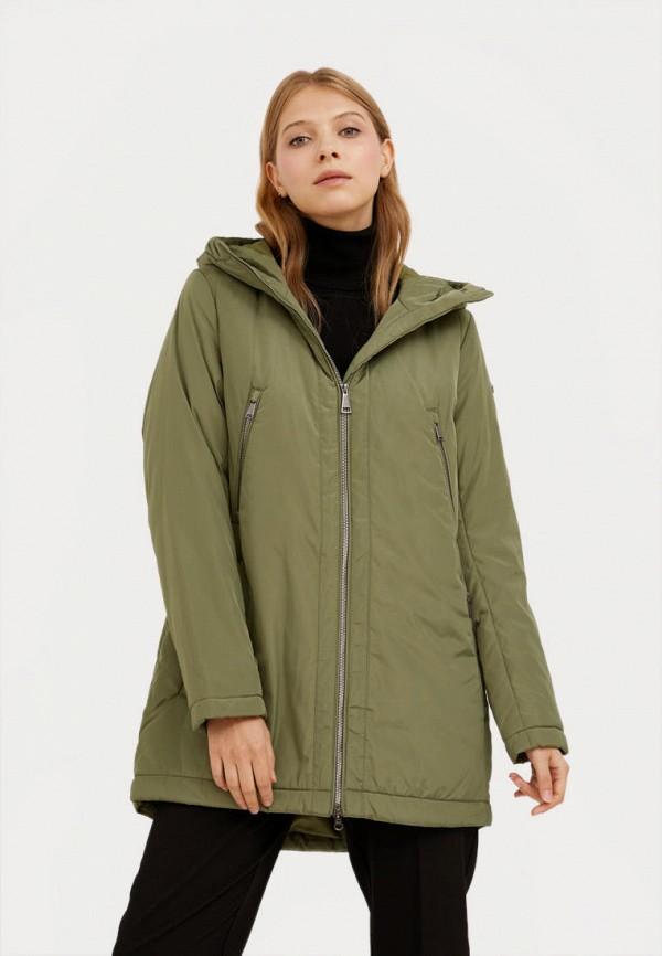 женская утепленные куртка finn flare, хаки