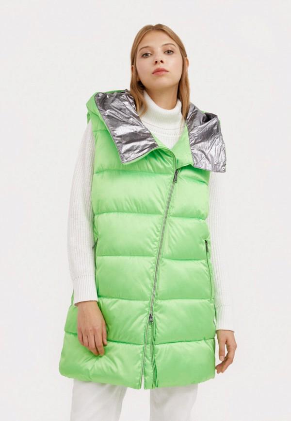 женский утепленные жилет finn flare, зеленый
