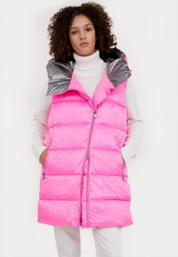 женский утепленные жилет finn flare, розовый