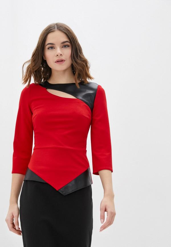 женская блузка с длинным рукавом lovely olgen, красная