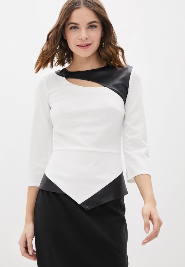 женская блузка с длинным рукавом lovely olgen, белая