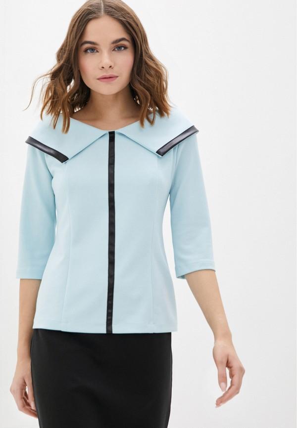 женская блузка с длинным рукавом lovely olgen, голубая