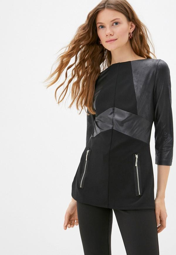 женская блузка с длинным рукавом lovely olgen, черная