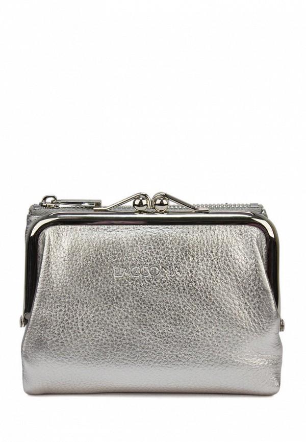 женский кошелёк laccoma, серебряный