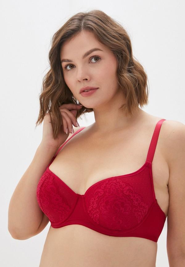 женский бюстгальтер на косточках mark formelle, красный