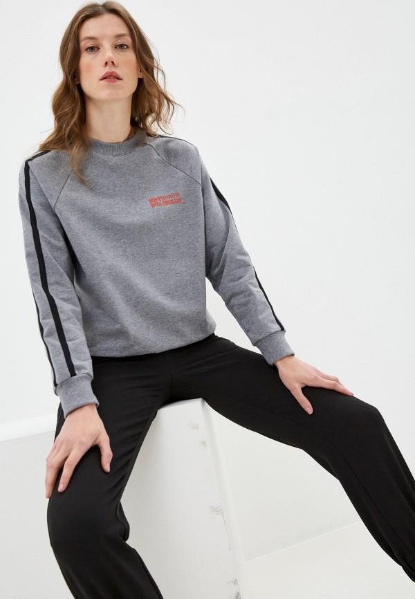 женский свитшот mark formelle, серый