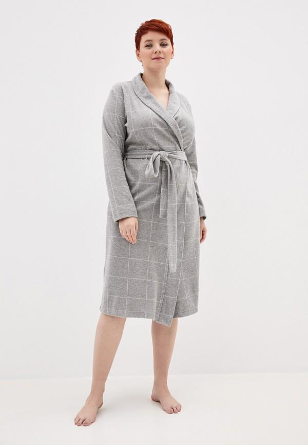 женский халат mark formelle, серый