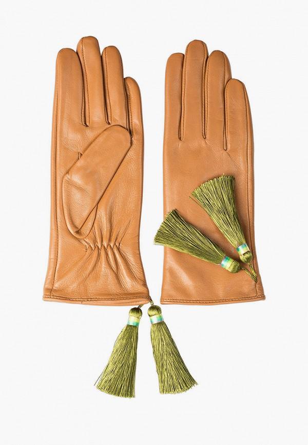 женские кожаные перчатки shpil design, коричневые