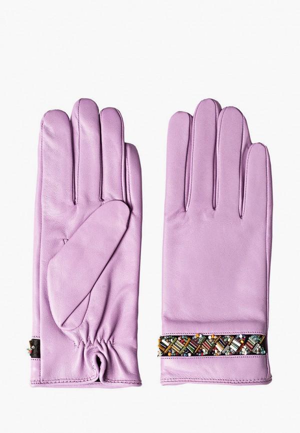 женские кожаные перчатки shpil design, фиолетовые