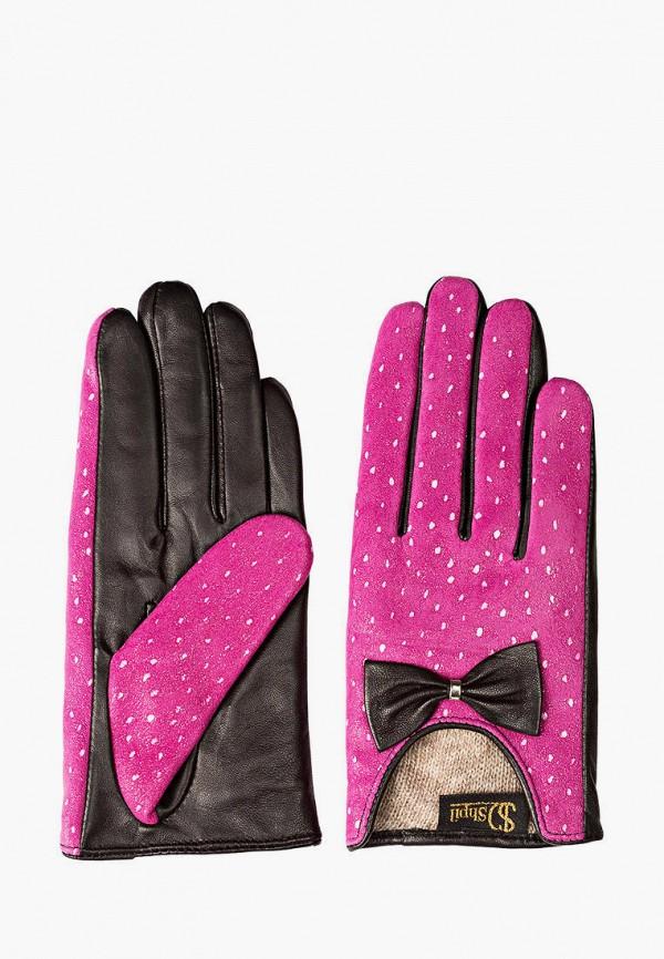 женские кожаные перчатки shpil design, розовые