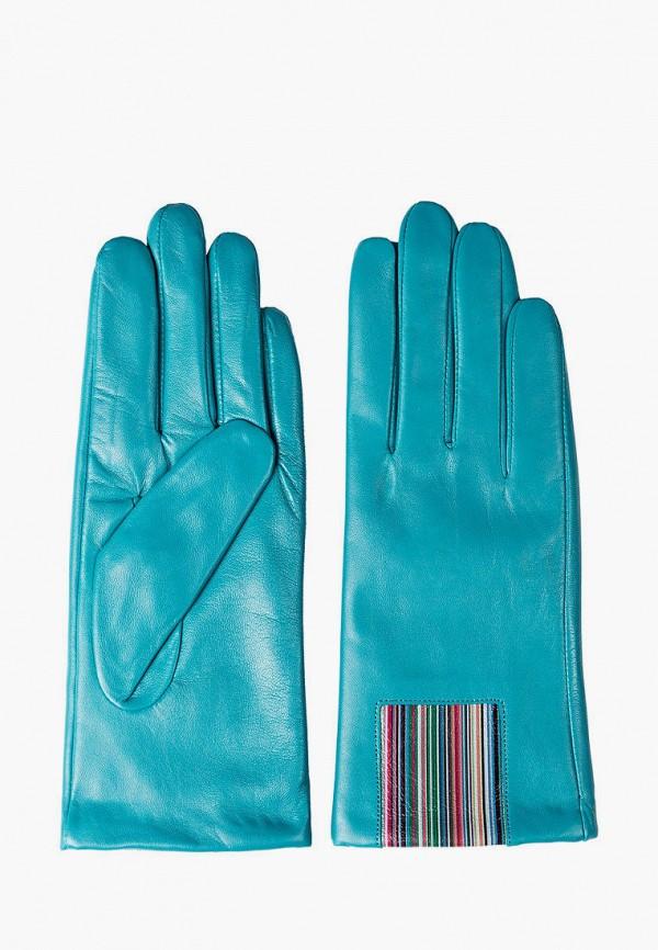 женские кожаные перчатки shpil design, бирюзовые