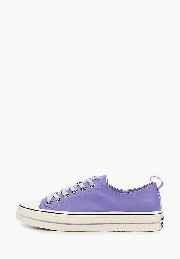 женские низкие кеды sprincway, фиолетовые