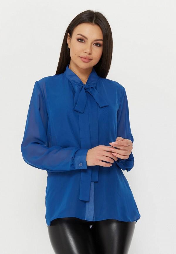 женская блузка madlen, синяя