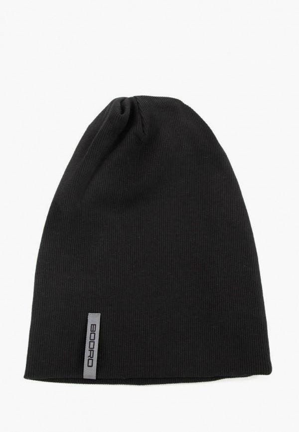 женская шапка bodro design, черная