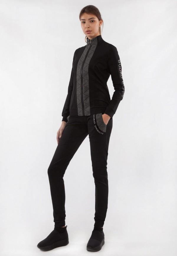 женский спортивный костюм bodro design, черный