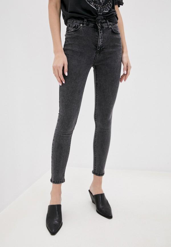 женские джинсы скинни wake, серые