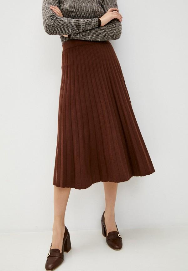 женская плиссированные юбка rafinad, коричневая