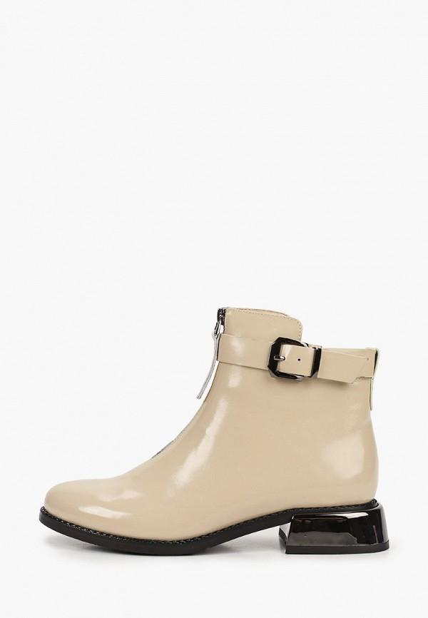 женские высокие ботинки stivalli, бежевые